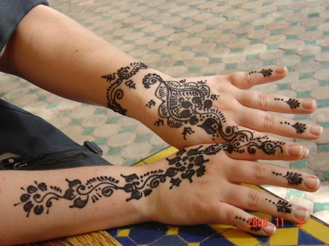 Beautiful henna artworkMarrakech, Morocco