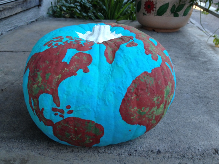 Globe Inspired Pumpkin