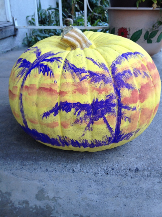 Tropical Inspired Pumpkin