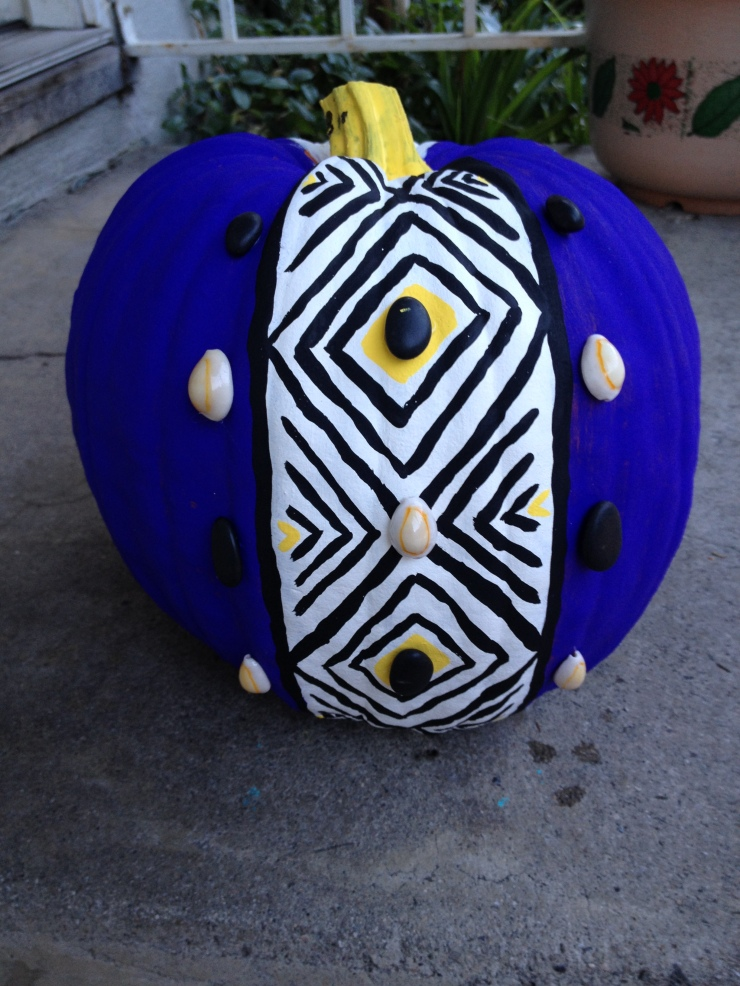 Tribal Inspired Pumpkin