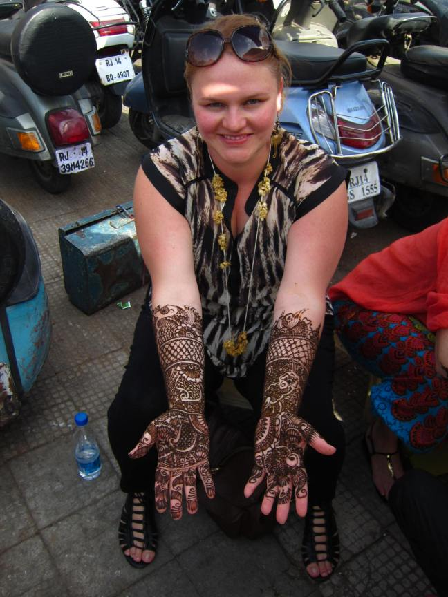 Henna I had done in Jaipur