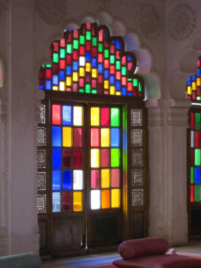 Many of the windows and chandeliers were made with glass imported from Belgium.