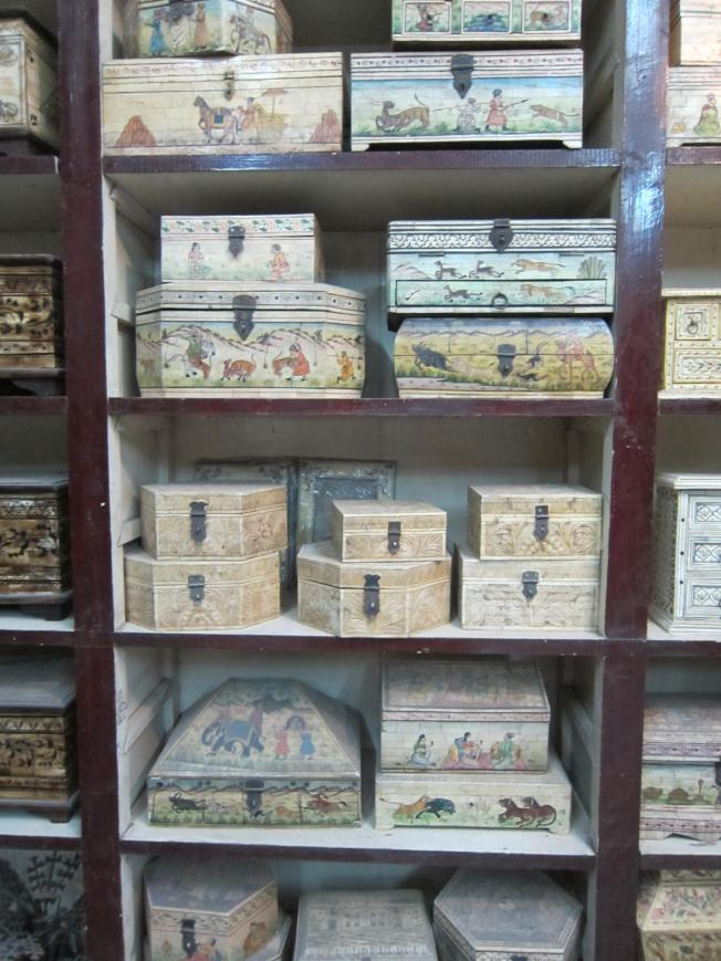 Carved, hand painted jewelry boxes.