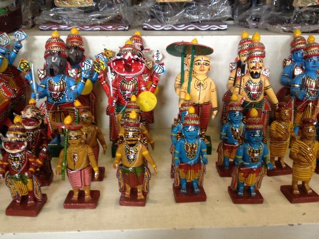 Miniature Hindu Gods.