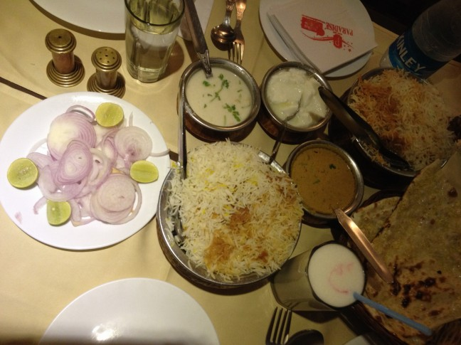Hyderabadi Biryani at Paradise Biryani