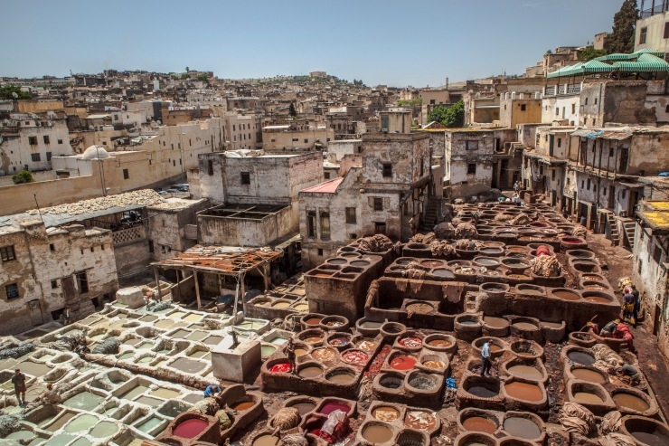Morocco Fes Tannery Landscape - Ruth Murphy IMG_8587 Lg RGB